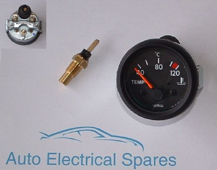 CLASSIC CAR 12v water temperature gauge and sender